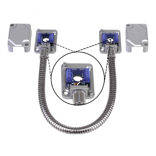 Armored Door Cord \u2013 Pre-Wired Terminal Blocks and Removable Covers Silver  sc 1 st  Seco-Larm & Armored Door Cord \u2013 Pre-Wired Terminal Blocks and Removable Covers ...