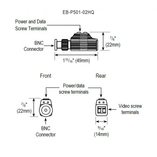 4 In 1 Hd Video Balun With Pass Through