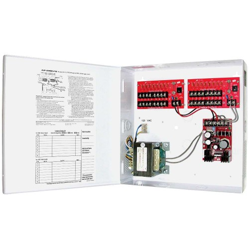 AC/DC CCTV Camera Power Supply - 8 outputs, 3 Amps@12VDC and