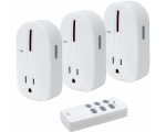 Wireless Outlet Controller - 3 Wireless Outlets, 1 Remote
