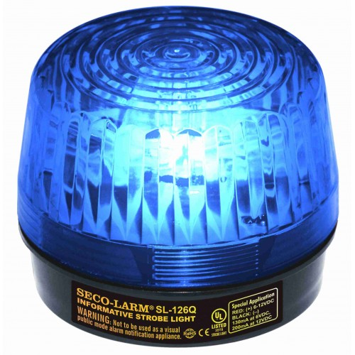 xenon tube strobe light blue ~vdc ul listed